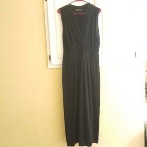 PERUVIAN CONNECTION Black Knit Maxi Dress